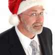 Businessman Christmas — Stock Photo