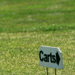 Golf cart sign — Stock Photo