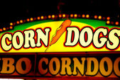 Corn Dog Sign — Stock Photo