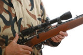 Hunters riffle — Stock Photo