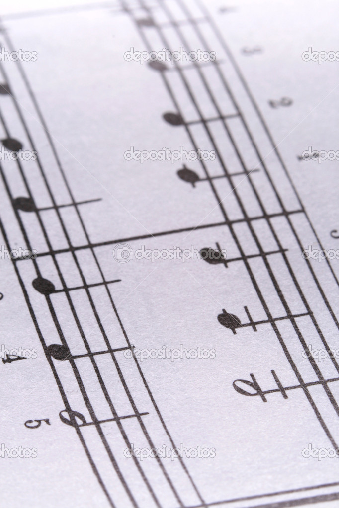 Macro of sheet music  Stock Photo #6291924