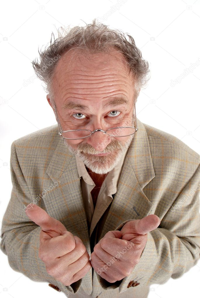 Wacky Professor giving the thumbs up — Stock Photo #6291956
