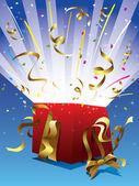 Surprise gift — Stock Vector