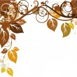 Autumn ornament — Stock Vector