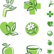 Green icons — Stock Vector #6314206