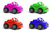 Four colors car — Stock Photo