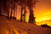 Alps at sunset - Poira(Valtellina) - Italy — Stock Photo