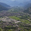 Valtellina panorama - Italy — Stock Photo