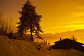 Alps at sunset - Poira(Valtellina) - Italy — Stock Photo