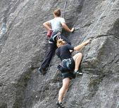 Bouldering, hiking & climbing — Stock Photo