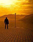 Man & Sunset — Stock Photo