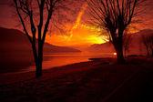 Comomeer bij zonsondergang — Stockfoto