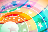 Stars Rainbow — Stock Vector