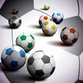 Fondo de fútbol — Vector de stock