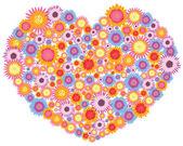 Flowers Heart — Stock Vector