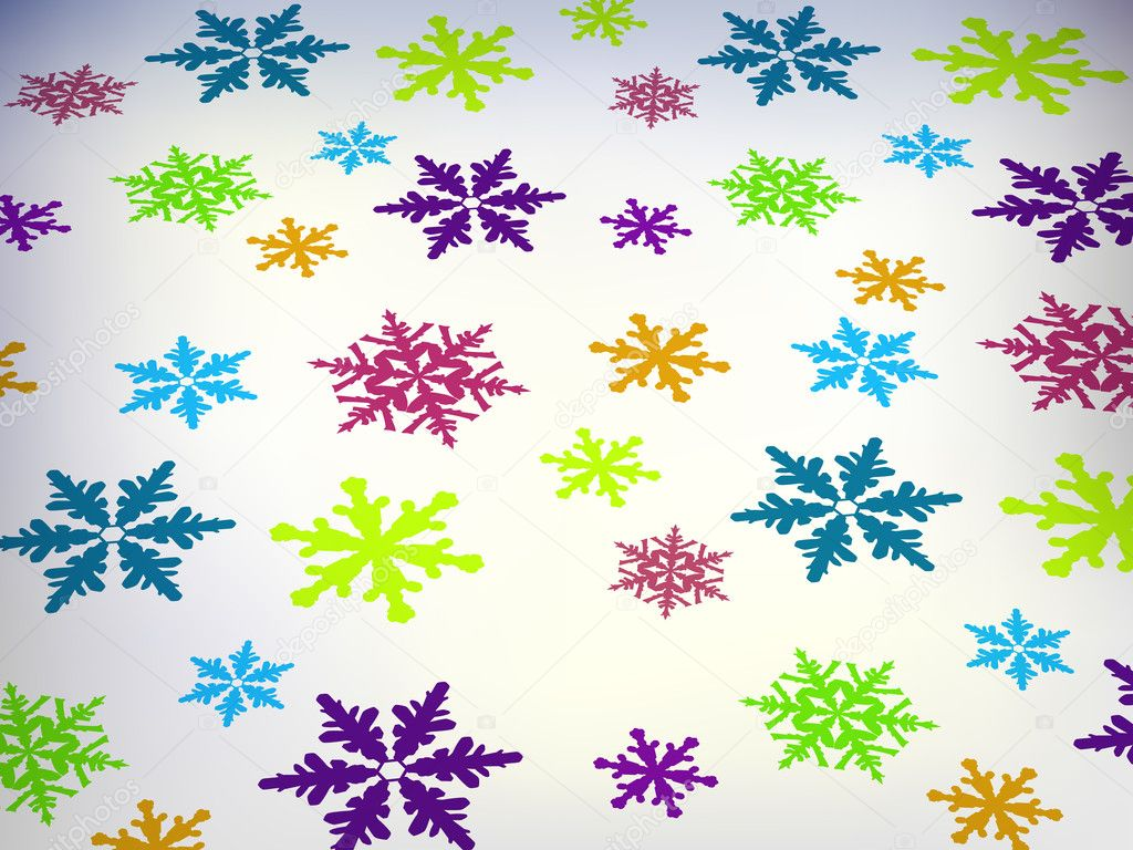 Snowflakes pattern — Stock Vector #6438771