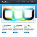 Vector website rainbow colorful desig template — Stock Vector #6658060