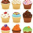 Royalty-Free Stock Vector Image: Cupcakes !!