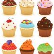 Cupcakes !! — Stock Vector