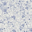 Seamless doodles — Vector de stock #6289982