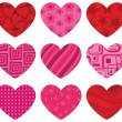 Patterned Hearts — Stock Vector #6464993
