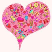 Big heart. — Stock Vector