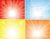 Sunbeam backgrounds collection — Stock Vector