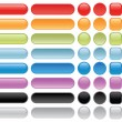 Blank web buttons. - Stock Vector