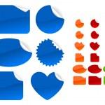 Shiny stickers. — Stock Vector #6491050