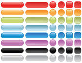 Blank web buttons. — Stock Vector