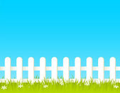 Fence with grass — Stock Vector