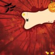 Stock Vector: Hallowen Spooky Banner