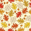 Oak leaves seamless pattern. — Stock Vector