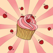 Yummy Cupcake — Stock Vector