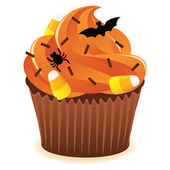 Halloween cupcakePrint — Stock Vector