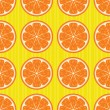 Oranges seamless pattern — Stock Vector
