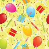 Birthday seamless pattern — Stock Vector