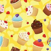 Yummy cupcakes — Stock Vector