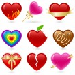 Heart icon set — Stock Vector #6658796