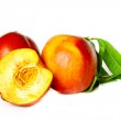 Fragrant ripe peach isolated on a white background — Stock Photo #6308500