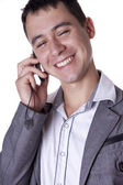 The man discusses by phone — Stock Photo