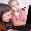 Stock Photo: Children play at the computer