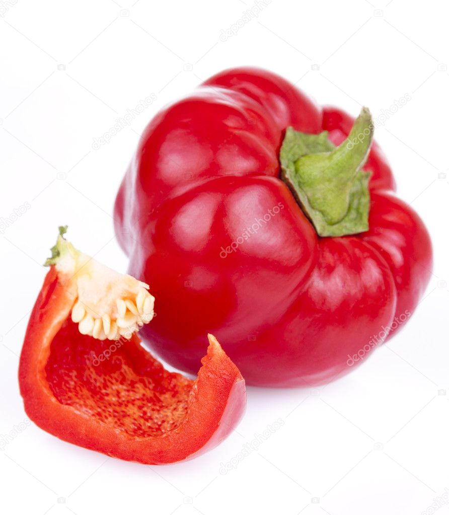 Fresh bitter and sweet pepper isolated on a white background — Stock Photo #6631914