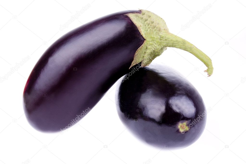Fresh eggplant isolated on a white background  Stock Photo #6631917