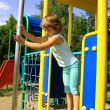 Young girl on the playground — Stock Photo #6300187