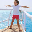 The girl on the boat - Foto Stock