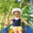 Stock Photo: Little Girl on Slide