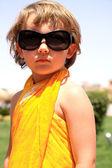 Portrait of a girl in sunglasses — Stock Photo