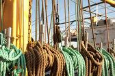 канат на корабле — Стоковое фото