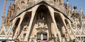 Sagrada Familia - cathedral by Gaudi, in Barcelona — Stock Photo
